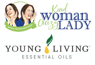 kind woman crazy lady and young living logo